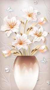 Лилии в пузатой вазе