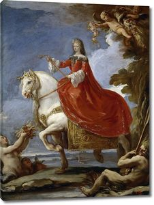 Джордано Лука. Мариана Нойбургская, королева Испании, верхом