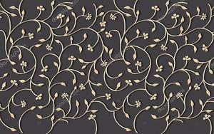 Золотые декоративные цветы