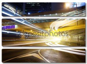 Ночное движение в Гонконге