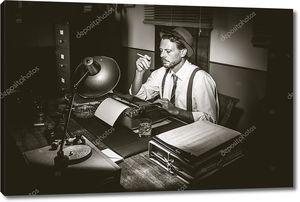 Репортер с пишущей машинкой