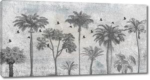 Пальмы с птичками