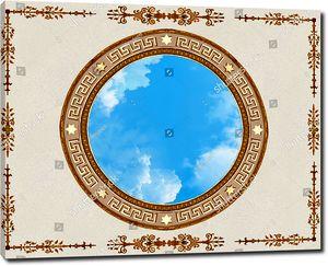 Небо в центре с узорами по сторонам