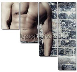 Работа мужчина с сексуальный мужчина без рубашки восстали против