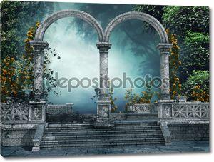 Старый сад с арками