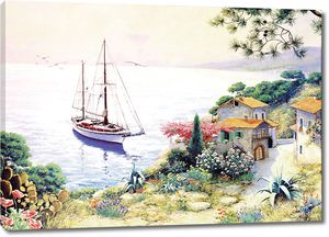Живописный вид на причал с лодкой