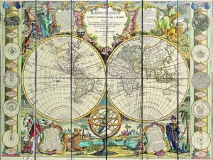 Старая карта с прекрасными картинками