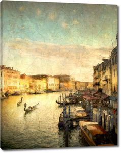 Красивая картина с видом на Венецию