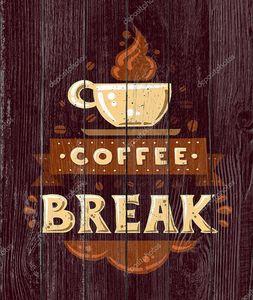 Современный плоский дизайн битник иллюстрация с цитатой фразу кофе