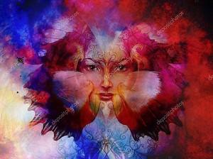 Богиня с орнаментальной мандалой