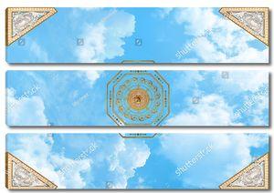 Небо с 4-мя треугольными узорами и розеткой в центре