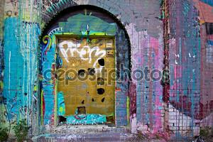 Граффити дверь