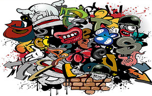 Детское граффити