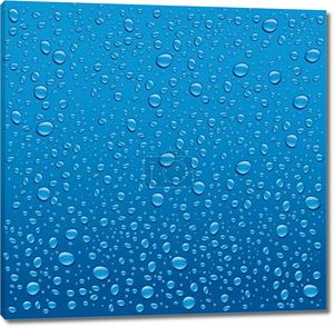 капли воды на синем фоне маленькие