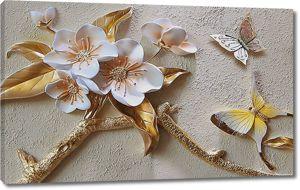 Лепной цветочный декор