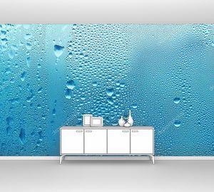 Синяя текстура капли воды