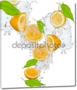 фрукты всплеск