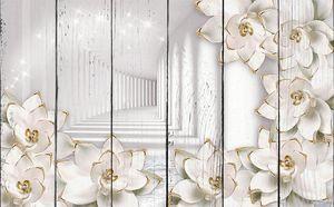 Цветы с ободками и тоннель