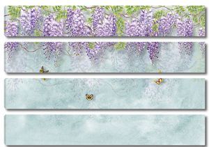 Сиреневые свисающие цветы