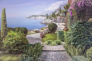 Пейзаж с видом на побережье