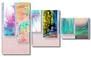 Коллаж из цветных полотен