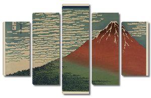 Кацусика Хокусай. Победный ветер. Ясный день или Красная Фудзи