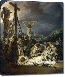 Рембрандт. Оплакивание Христа