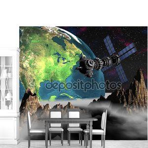 Спутниковый спутник орбиты Земли
