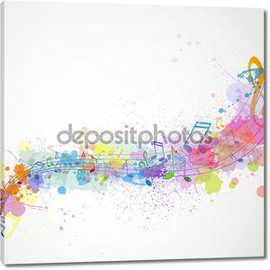 Красочный музыкальный дизайн
