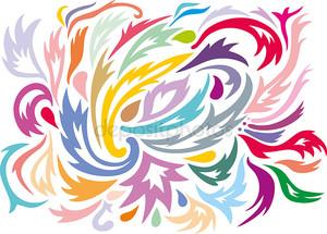 цветной узор