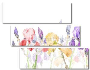Художественная пастель фон с красивой диафрагмы цветок