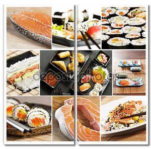 коллаж суши