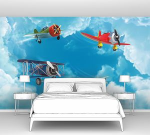 Старинные самолетики в небе
