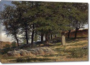 Аэс Карлос де. Леса близ монастыря
