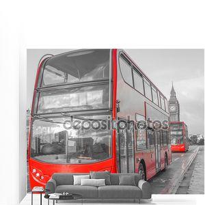 красный автобус в Лондоне