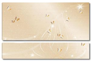 Бабочки на бежевом