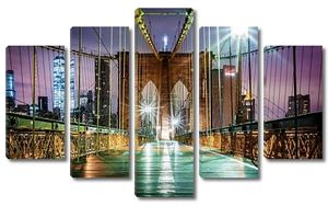 Бруклинский мост и на Манхэттен