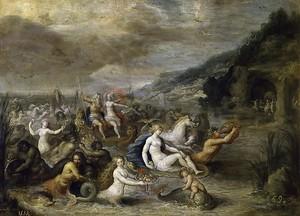 Франс Франкен Младший. Нептун и Амфитрита
