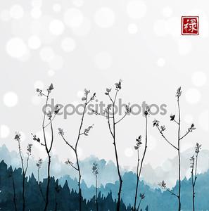 Деревья с мелкими листьями