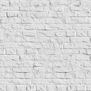 Белая кирпичная стена - бесшовный фон.