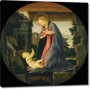 Боттичелли Сандро. Богородица, обожающая ребенка