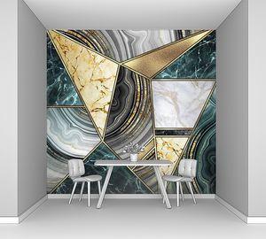 абстрактный арт-деко фон, современная инкрустация мозаики, креативная текстура мраморного агата и золота, художественно окрашенный мрамор, искусственный камень, мраморная плитка, минимальная модная мраморная иллюстрация