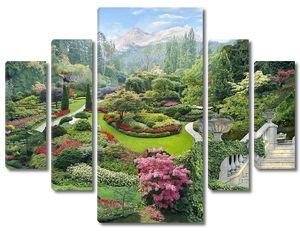 Невероятный цветочный сад