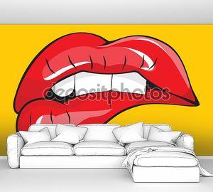 Клев ее красные губы зубы