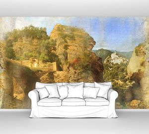 Фреска с видом на скалы