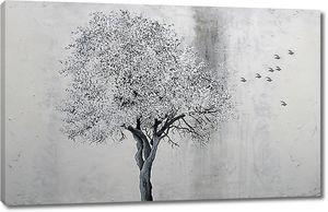 Дерево с мелкими листьями