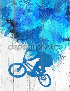 велосипедистом bmx Спорт