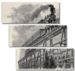 Train upon bridge