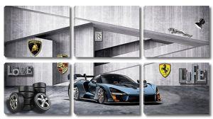 Спортивная машина в гараже