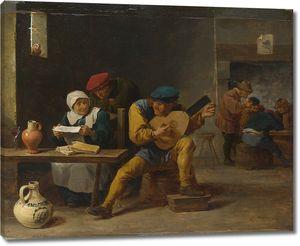 Тенрис Давид (Младший). Крестьяне, музицирующие в таверне